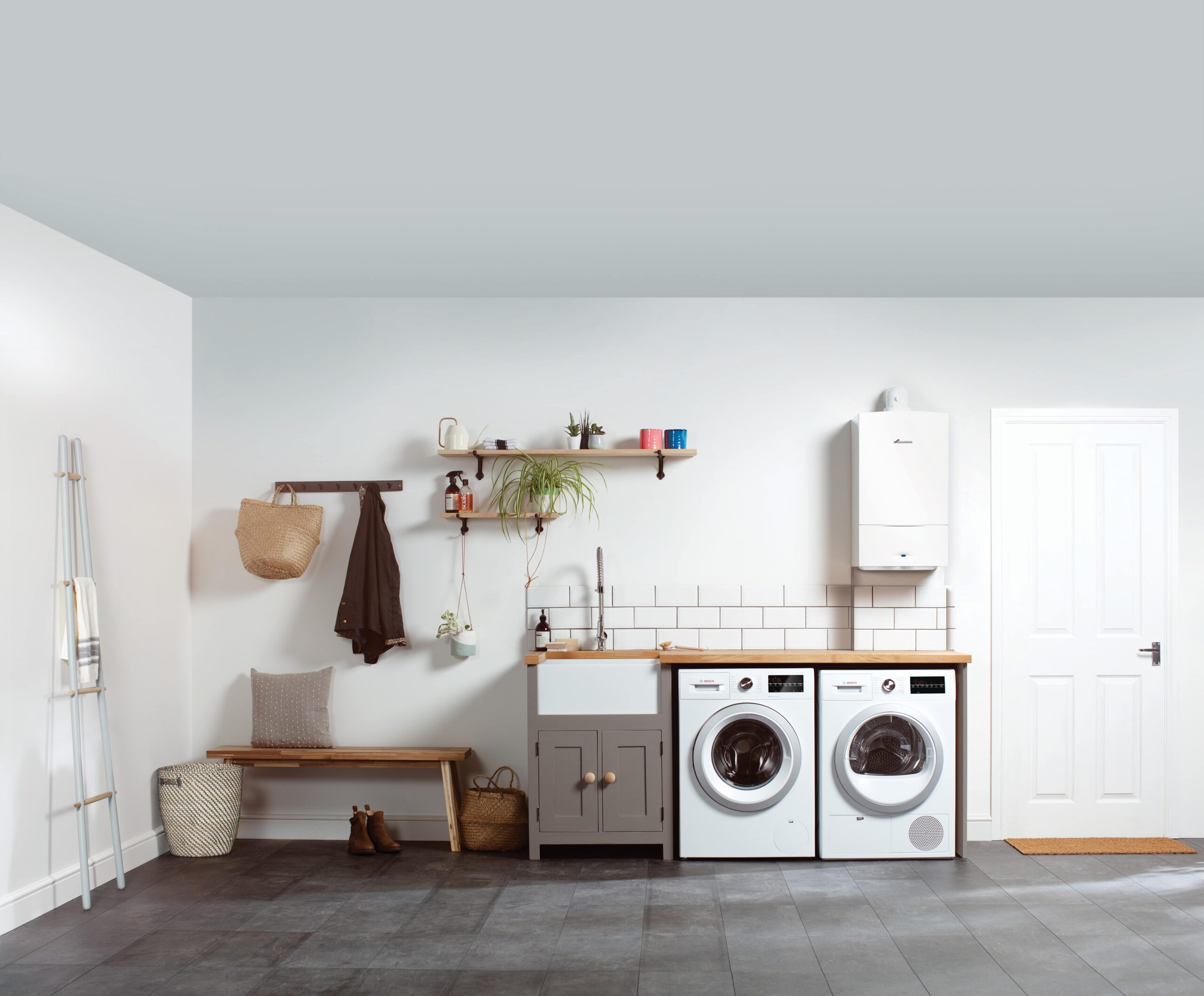 Heating Engineer in Plymstock: Image of a utility room and boiler.